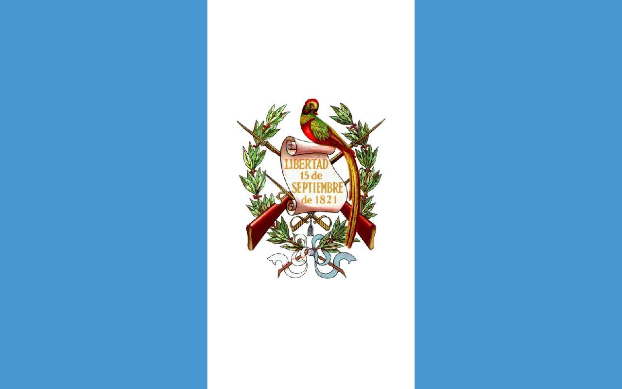Bandera de los liberales que invadieron Guatemala; establecida como bandera oficial el 17/8/1871.