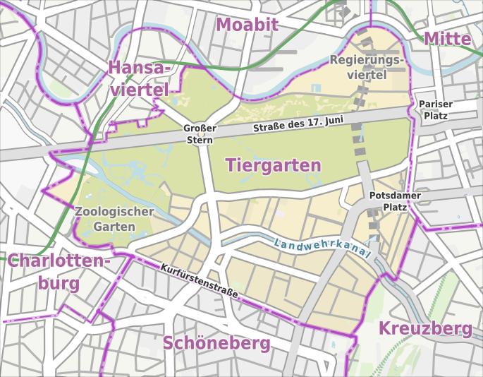 Liste Der Strassen Und Platze In Berlin Tiergarten Wikipedia