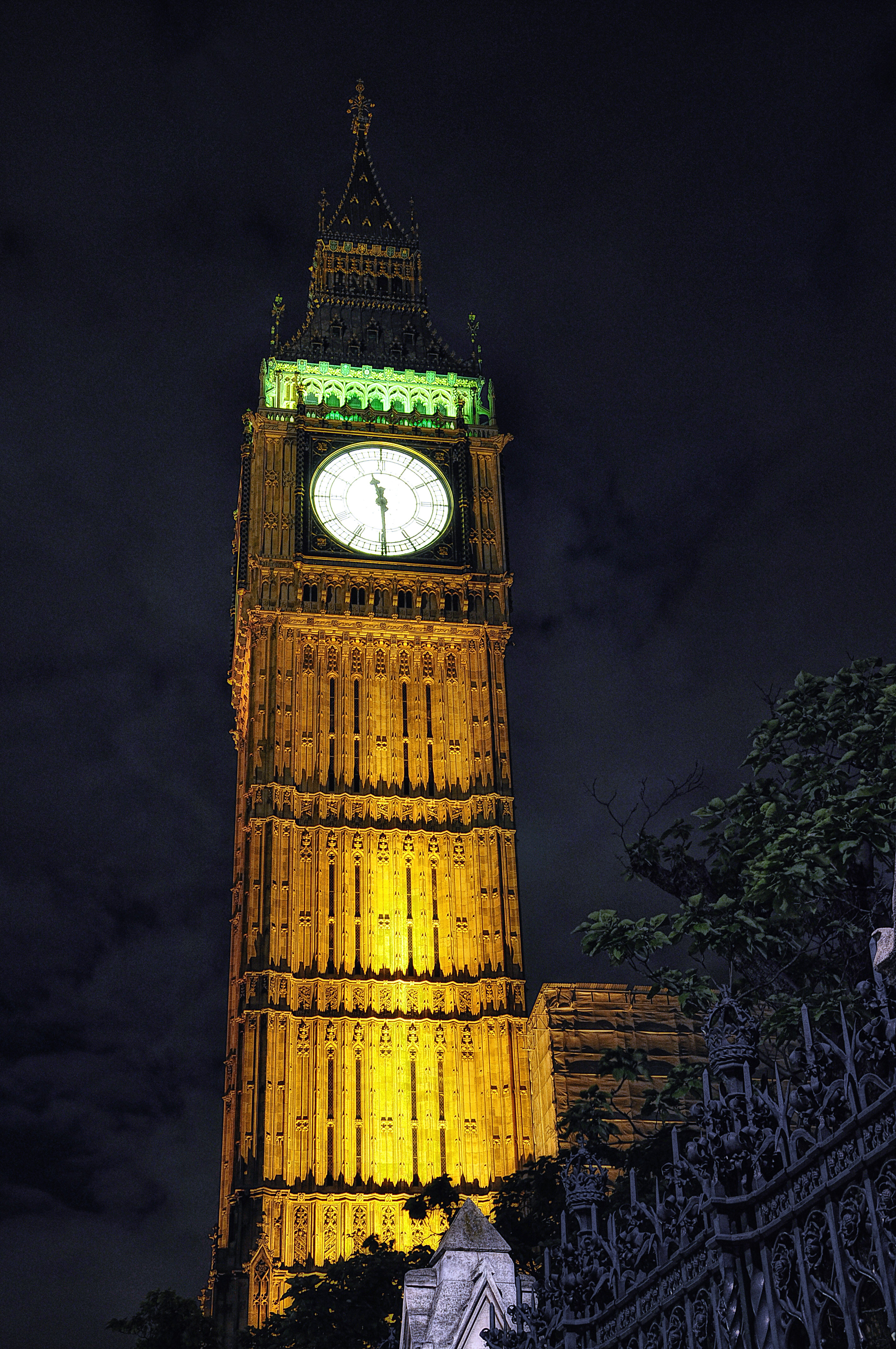 Description big ben london nacht night