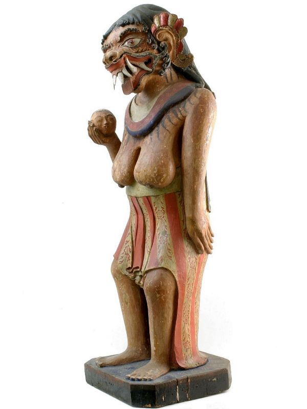 File:COLLECTIE TROPENMUSEUM Houten beeld van de godin Kalika TMnr ...