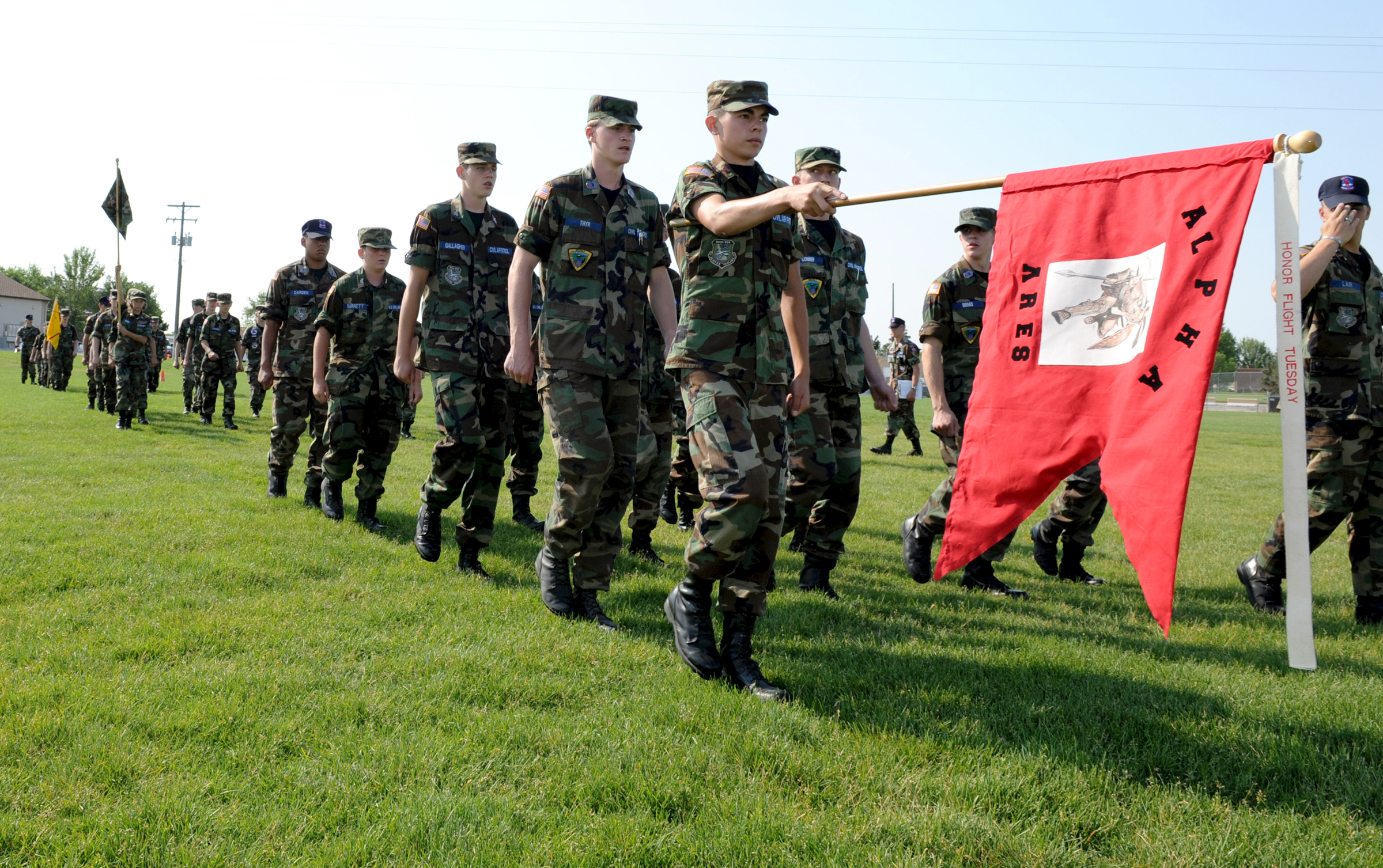 File:Cadets from the Civil Air Patrol, Rocky Mountain region, practice drill .