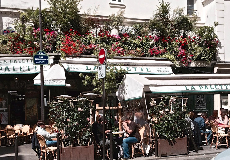 Cafe La Palette Paris Menu