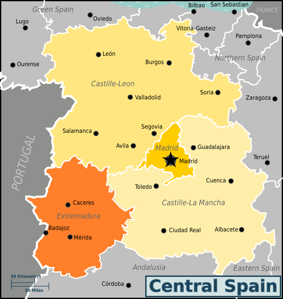 Central Spain Travel guide at Wikivoyage