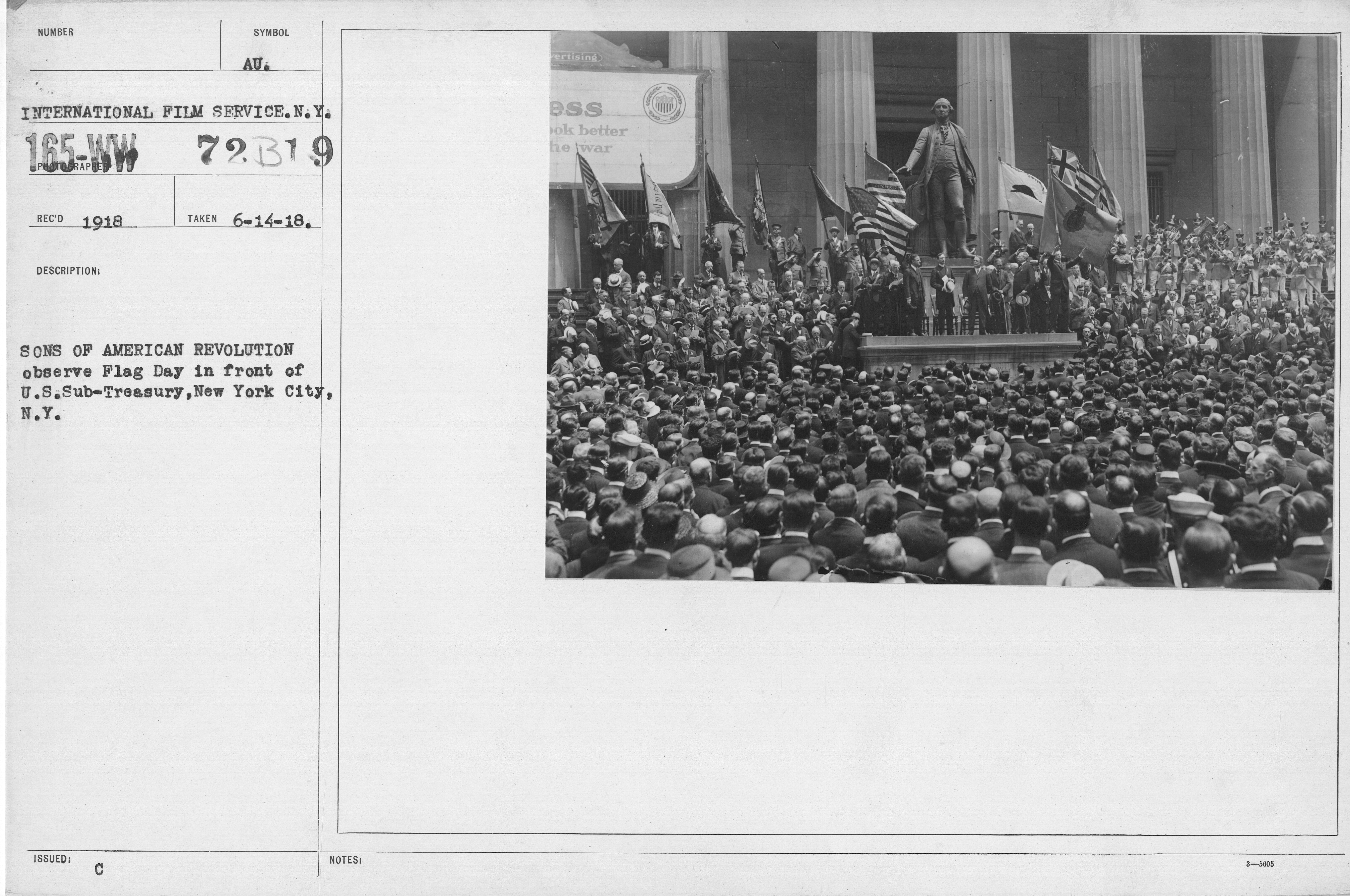 File:Ceremonies - Flag Day, 1918 - Sons of American