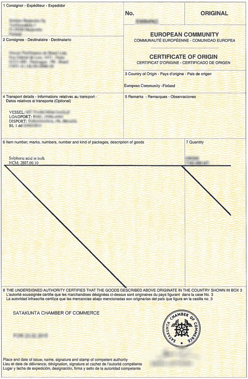 Certificate Of Origin Wikiwand