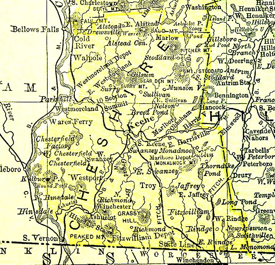 Filecheshirenh1895 Wikimedia Mons: Map Of Cheshire County Nh At Slyspyder.com