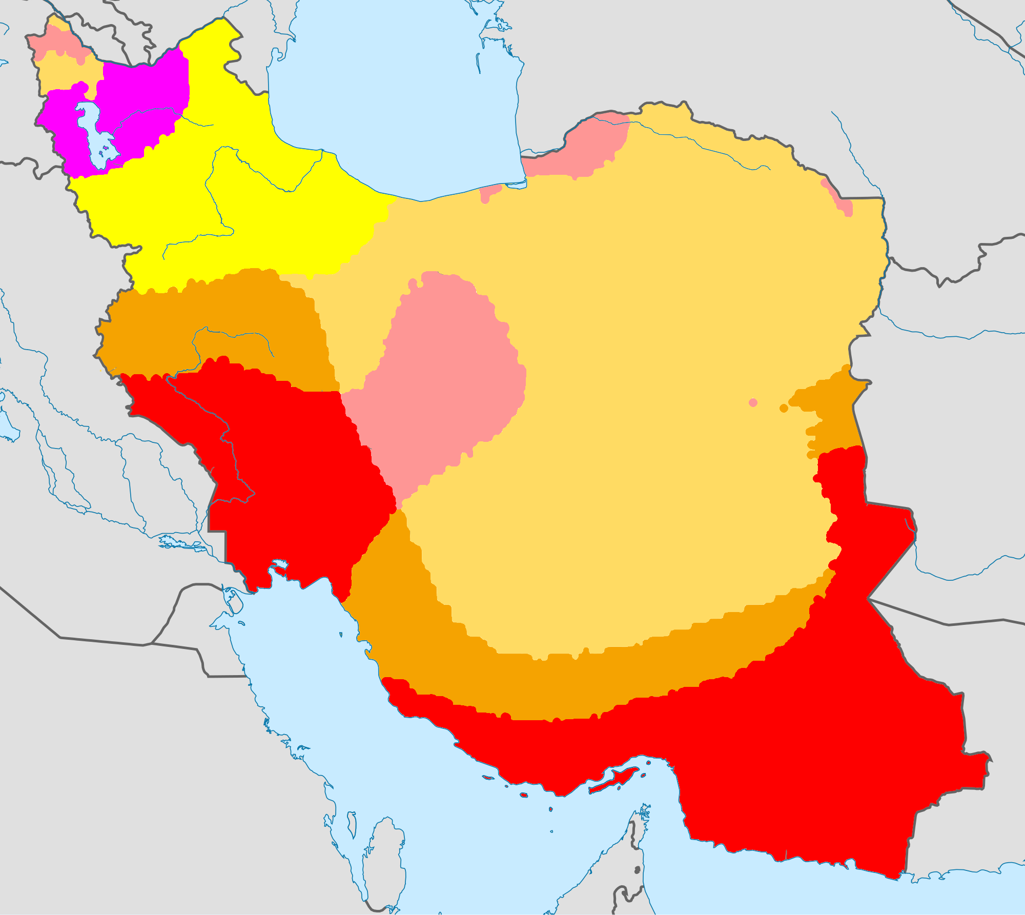 Iran Weather Map.File Climate Maps Of Iran Koppen Geiger Png Wikimedia Commons