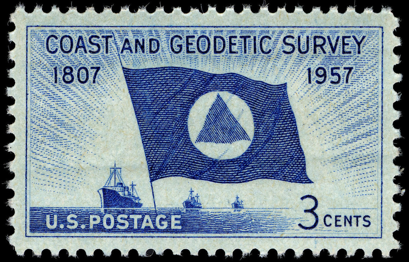FileCoast Geodetic Survey 3c 1957 Issue US Stamp