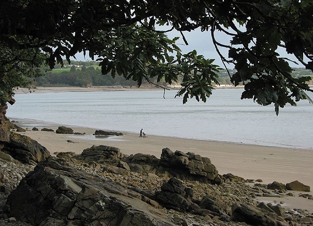 Cockle Pickers at low tide near Saundersfoot - geograph.org.uk - 566906