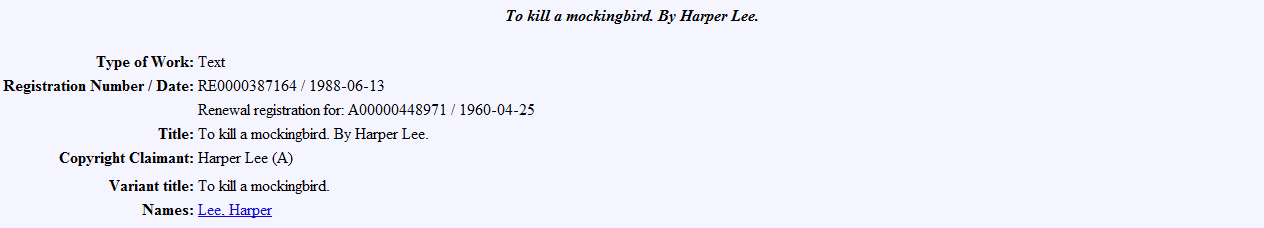 publication date of to kill a mockingbird