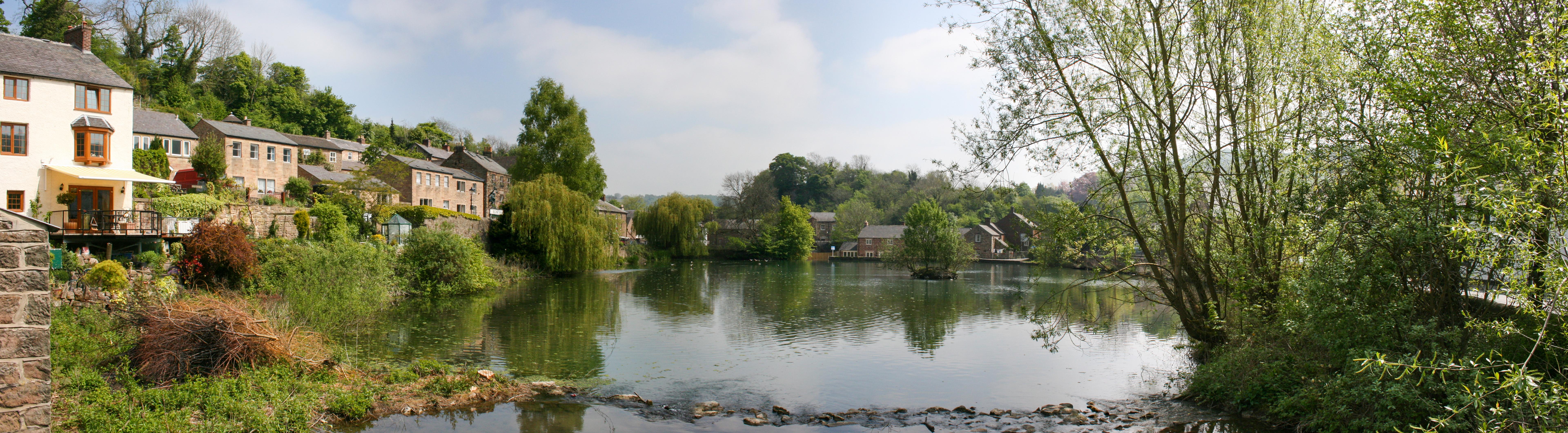 File Cromford Mill Pond Jpg Wikimedia Commons