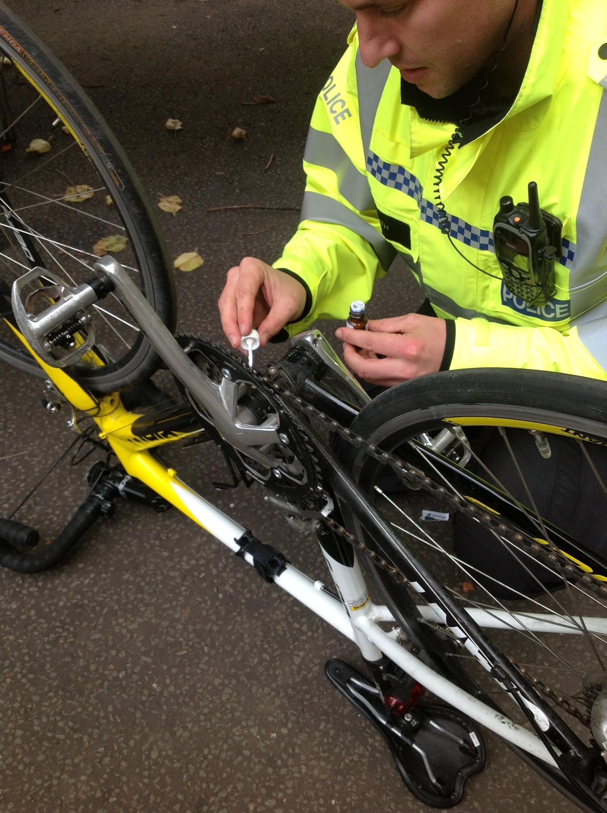 File:Day 285 - West Midlands Police - Bicycle frame marking ...