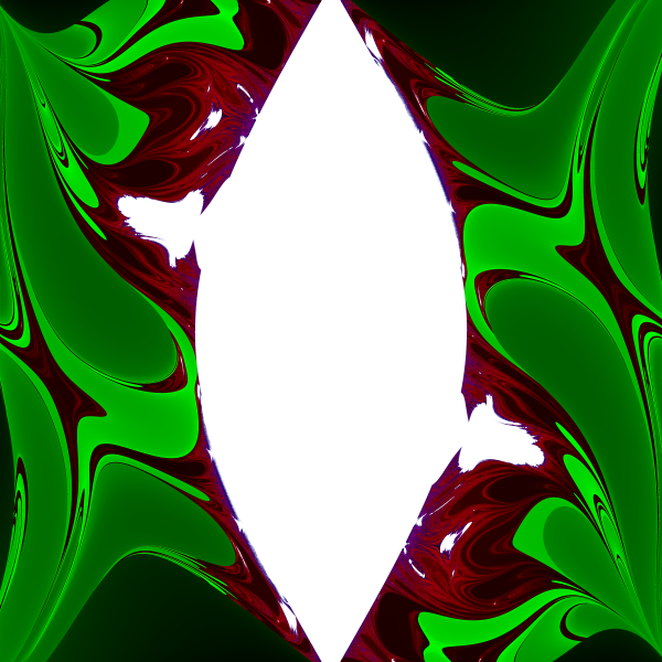 Double pendulum fractal