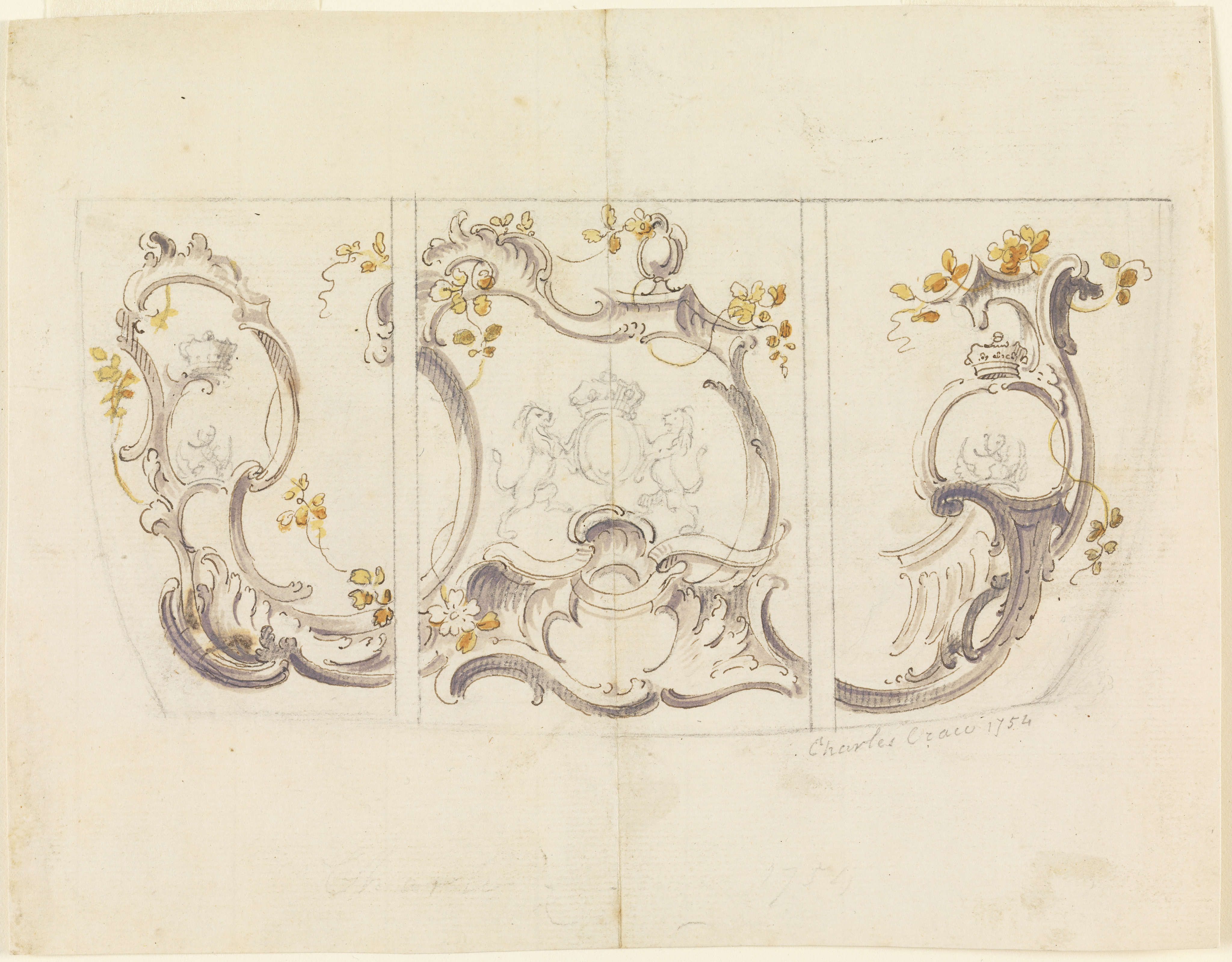 File:Drawing, Design for Side Panels of a Coach, 1754 (CH 18609879 ...