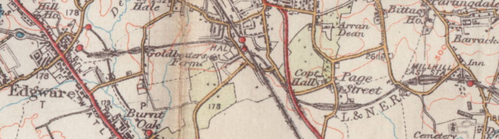 Datei:Extract of 1930 map of Edgware & Mill Hill.png – Wikipedia