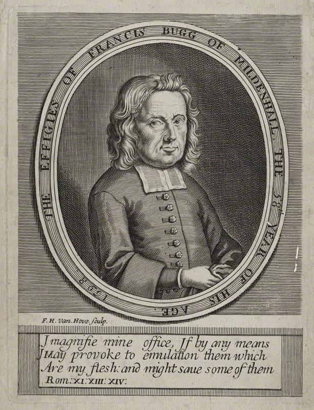Francis Bugg, 1698 engraving