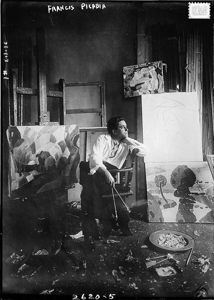 Francis Picabia in his studio c.1912