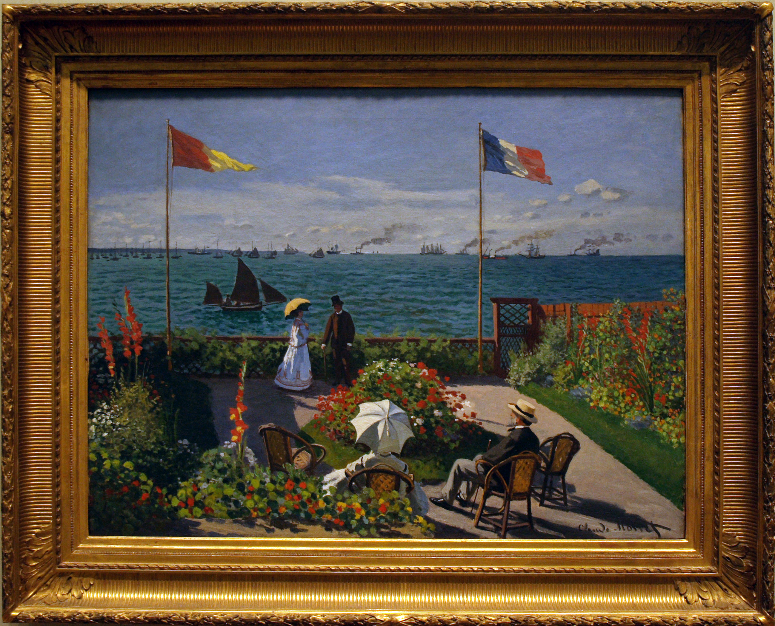 an overview of clause oscar monets painting terrace at sainte adresse