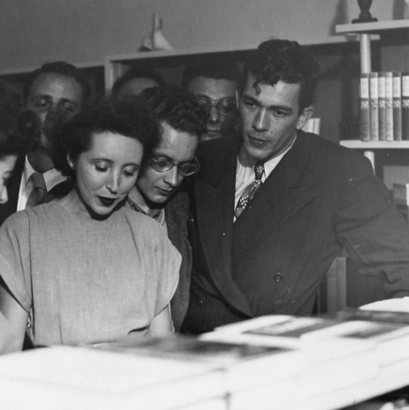 Anaïs Nin Quotes Post - George Leite and Anaïs Nin at daliel's bookstore in Berkeley, CA, 1946