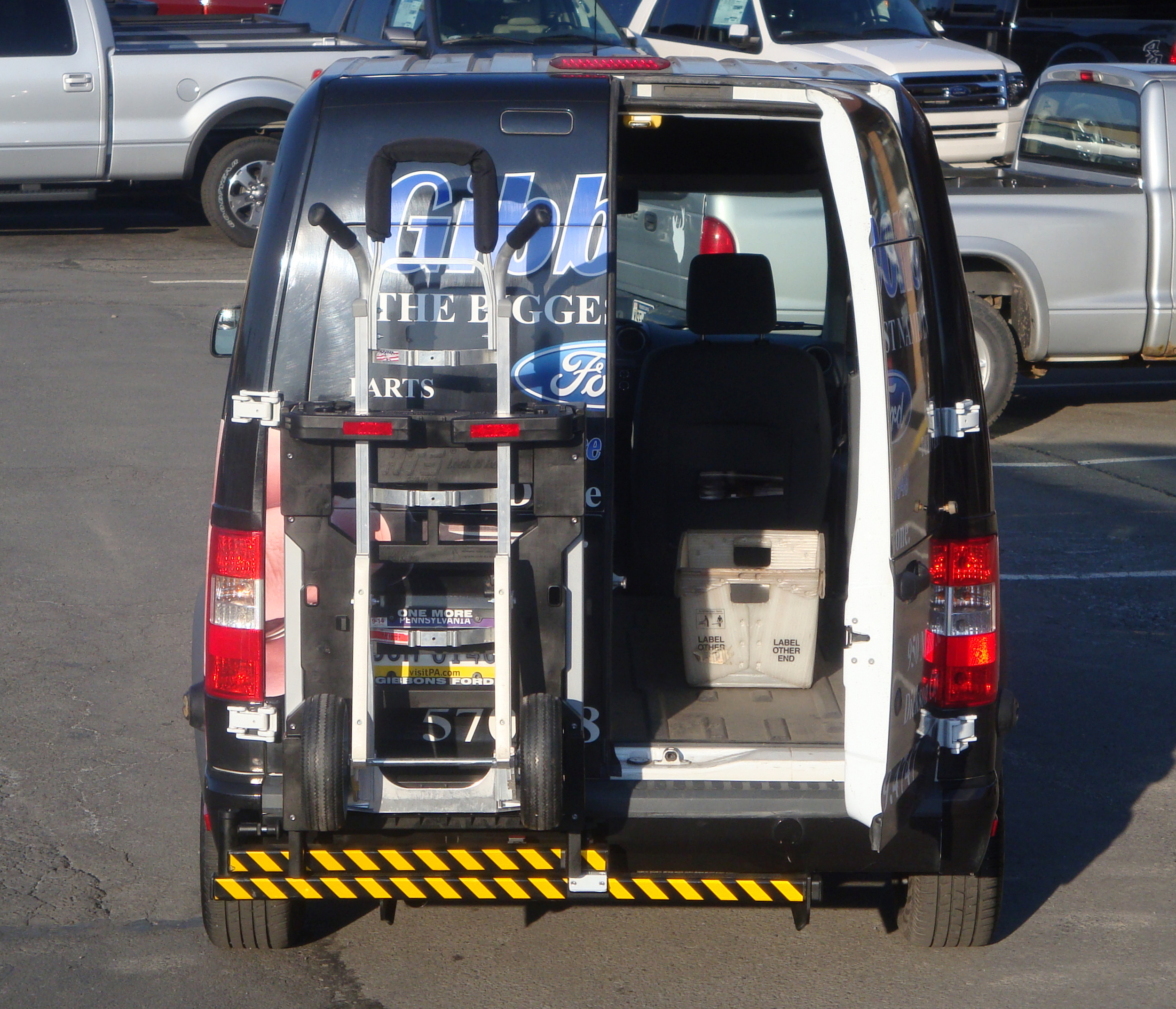 Filegibbons Ford Transit Parts Delivery Van Hand Truck Sentry