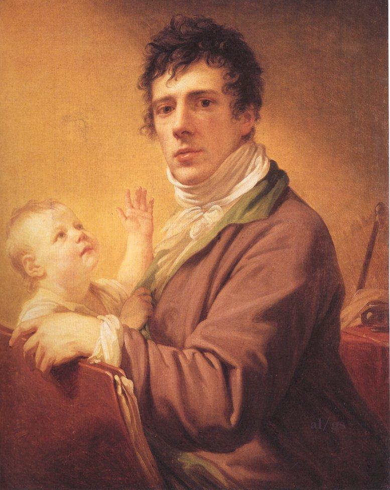 Джованни Баттиста Лампи с сыном