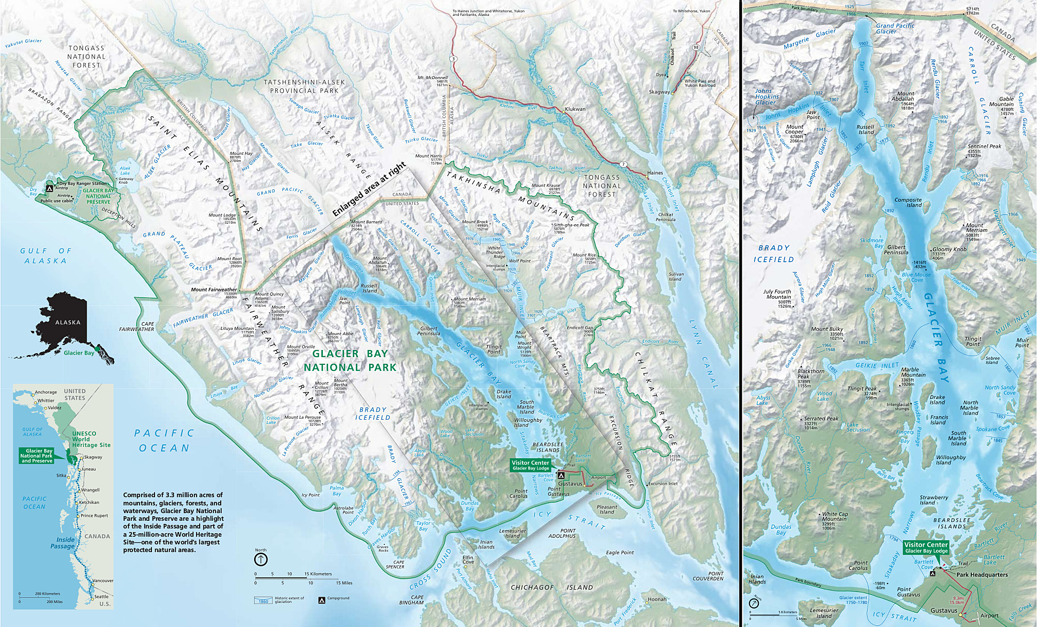 File:Glacier Bay National Park official park brochure map ...