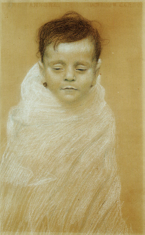 https://upload.wikimedia.org/wikipedia/commons/8/87/Gustav_Klimt_-_Portrait_of_the_Artist%27s_Dead_Son_-_Otto_Zimmermann_DLC_Vienna.jpg
