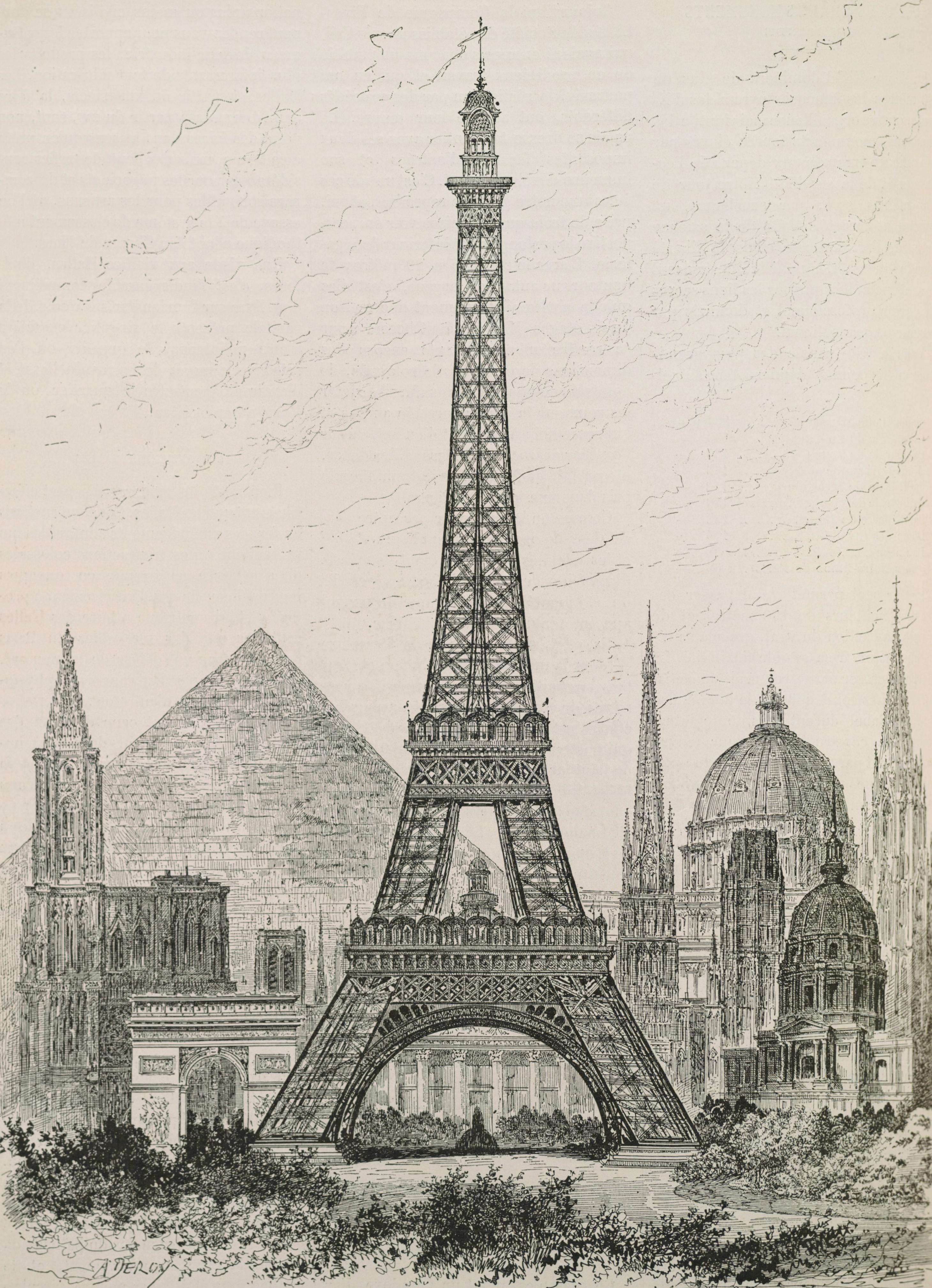 File hauteur compar e de la tour eiffel et des principaux monuments du monde - Les dimensions de la tour eiffel ...