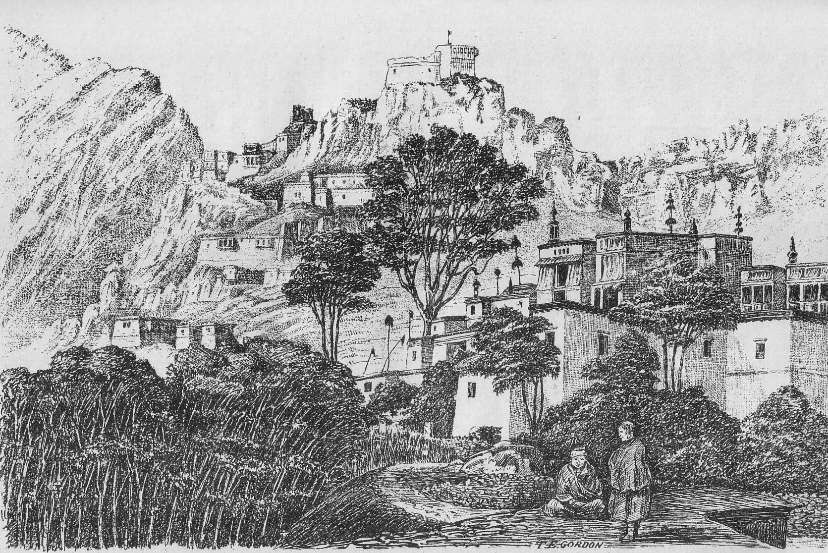 Hemis Monastery in the 1870s