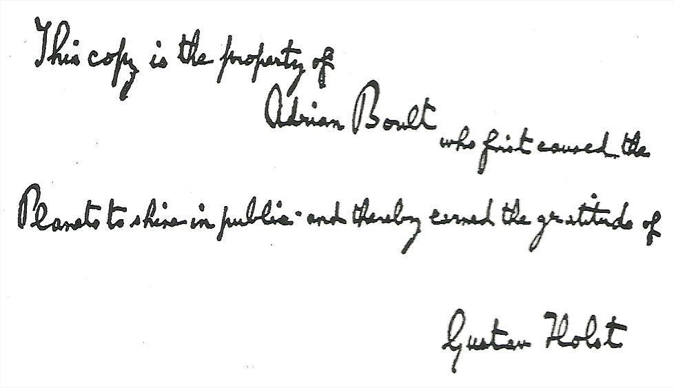 Gustav Holst Sir Adrian Boult Vienna State Opera Orchestra And Vienna Academy Chorus The Planets