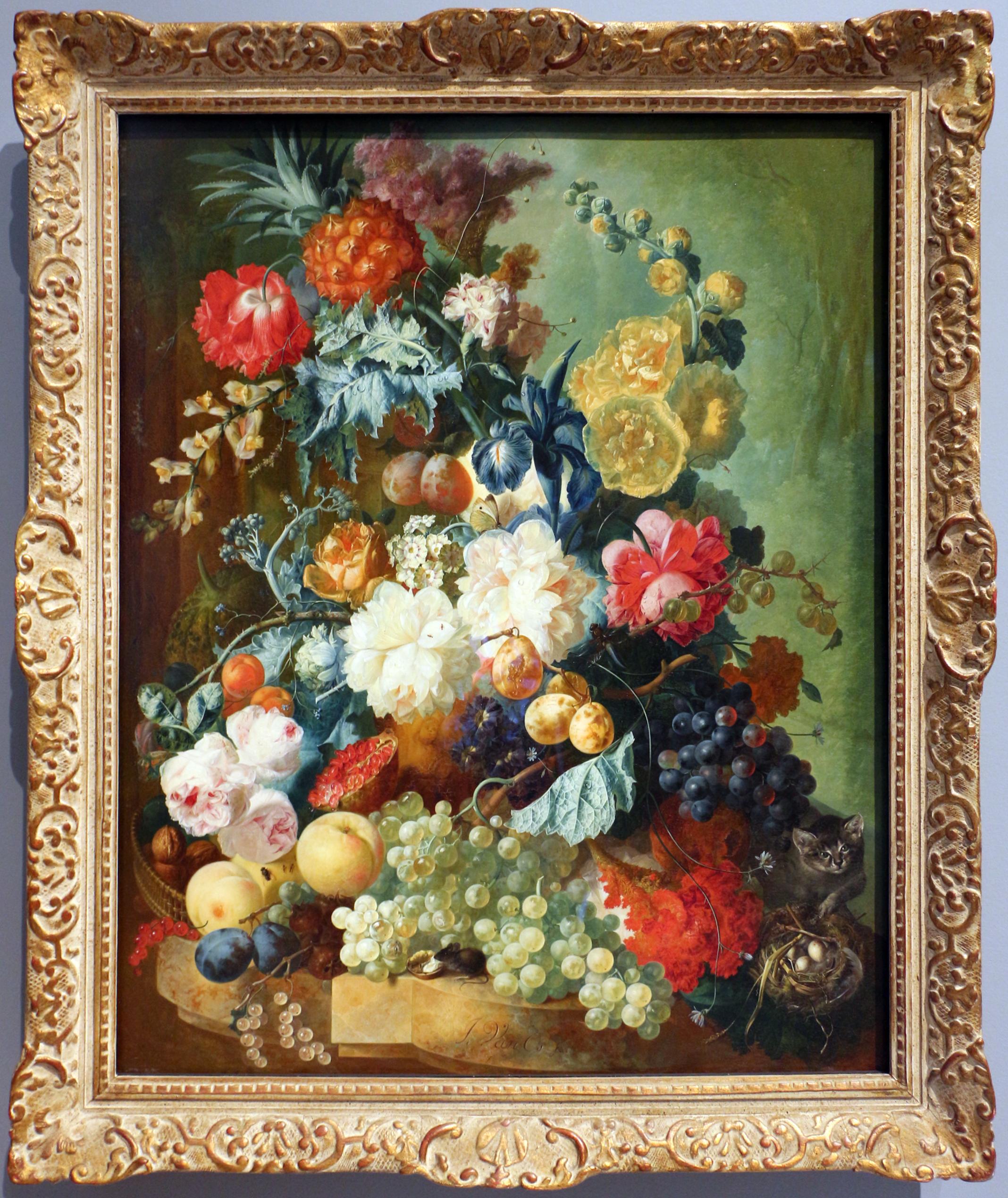 Fiori Con La E.File Jan Van Os Natura Morta Con Frutta E Fiori Olanda 1790 Ca