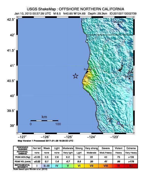 2010 Eureka Earthquake Wikipedia