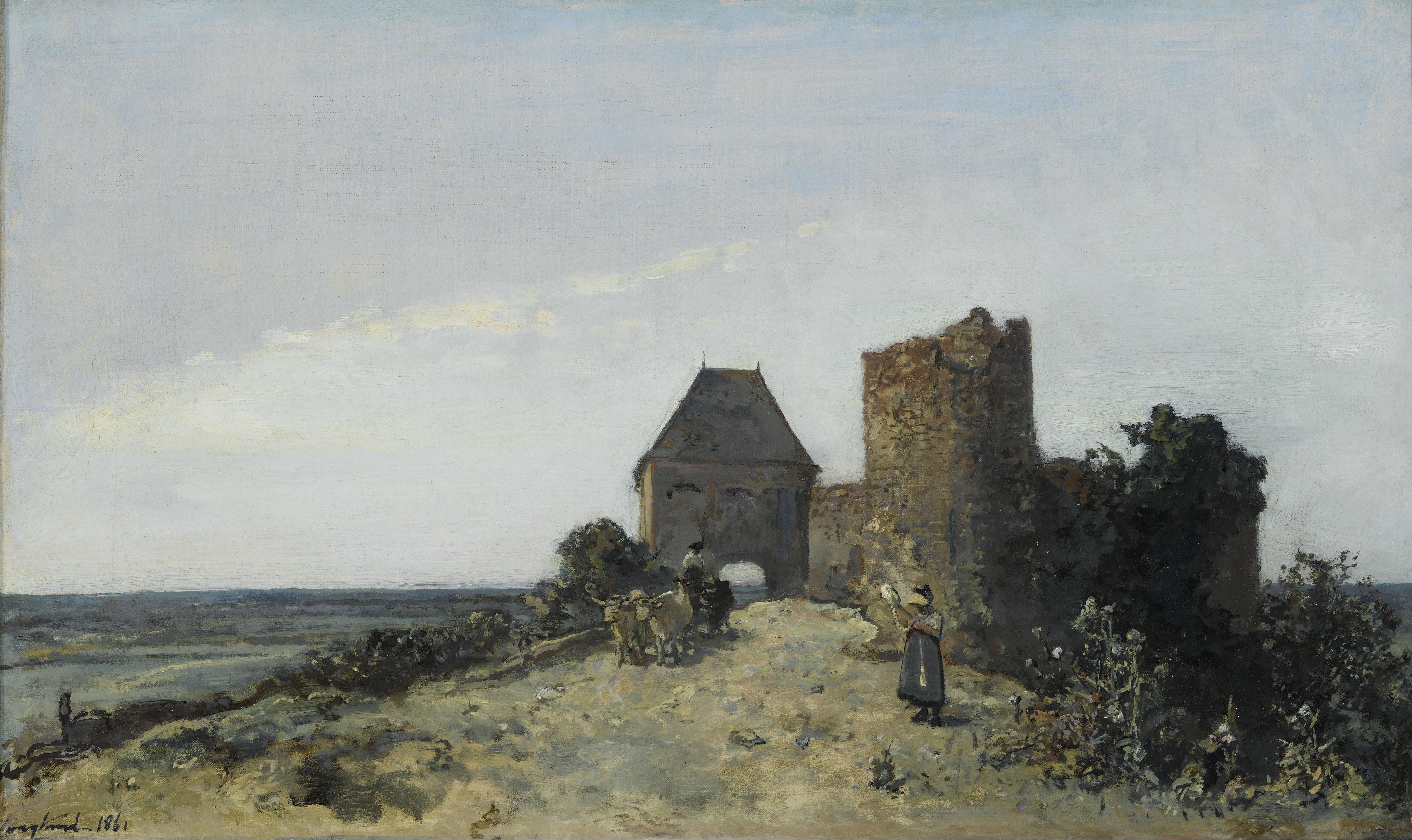 Ruins in art: Johan Jongkind, Ruins of Rosemont Castle