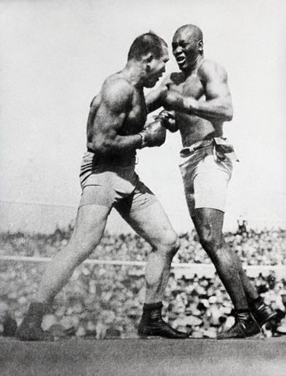 Champion Jack Johnson vs. James J. Jeffries