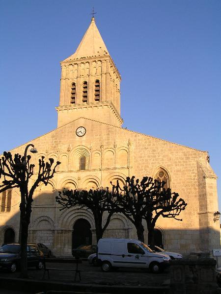 Saint-Gervais Saint-Protais church in Jonzac, France