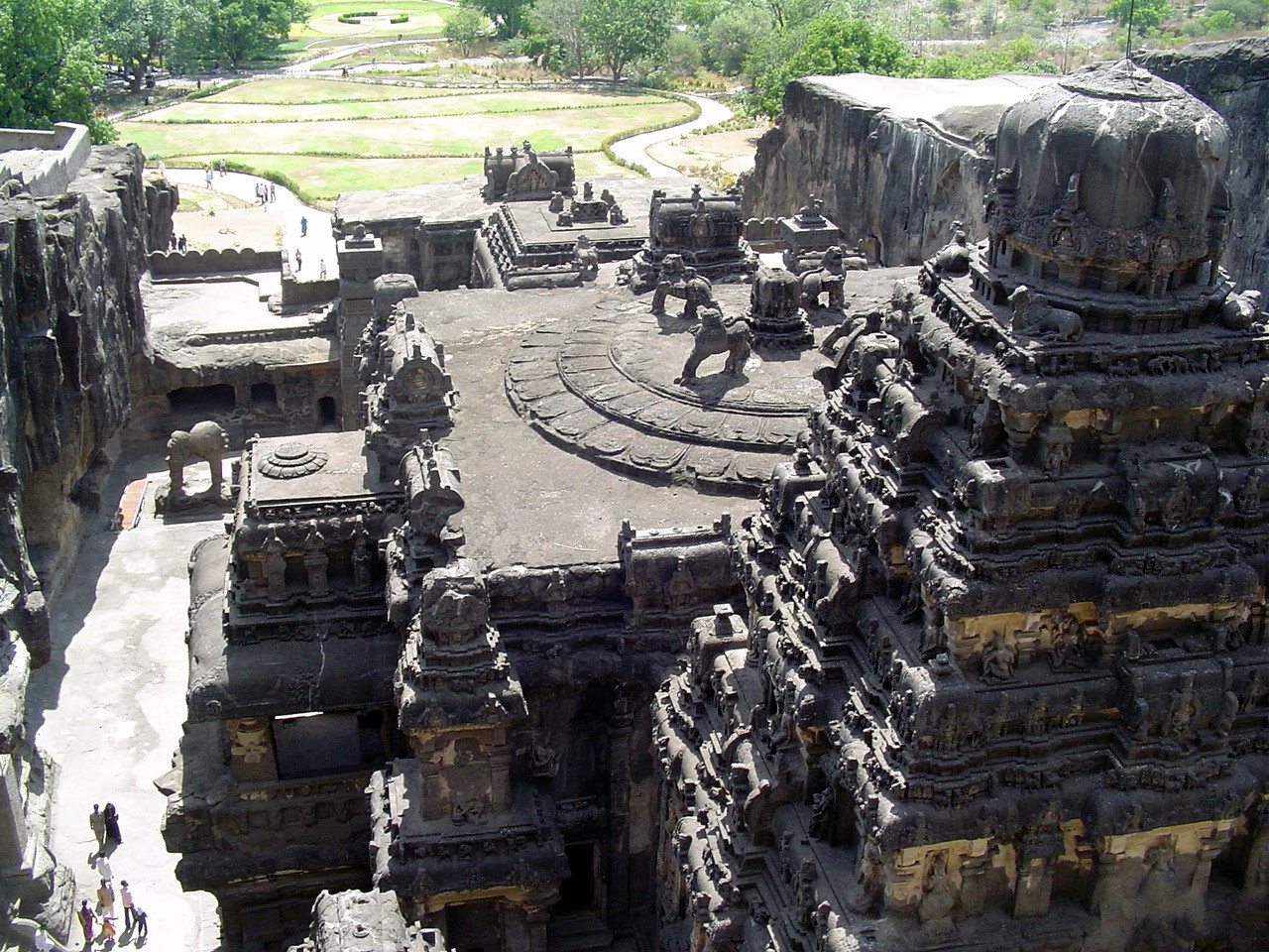 Kailash Temple in Ellora Caves.