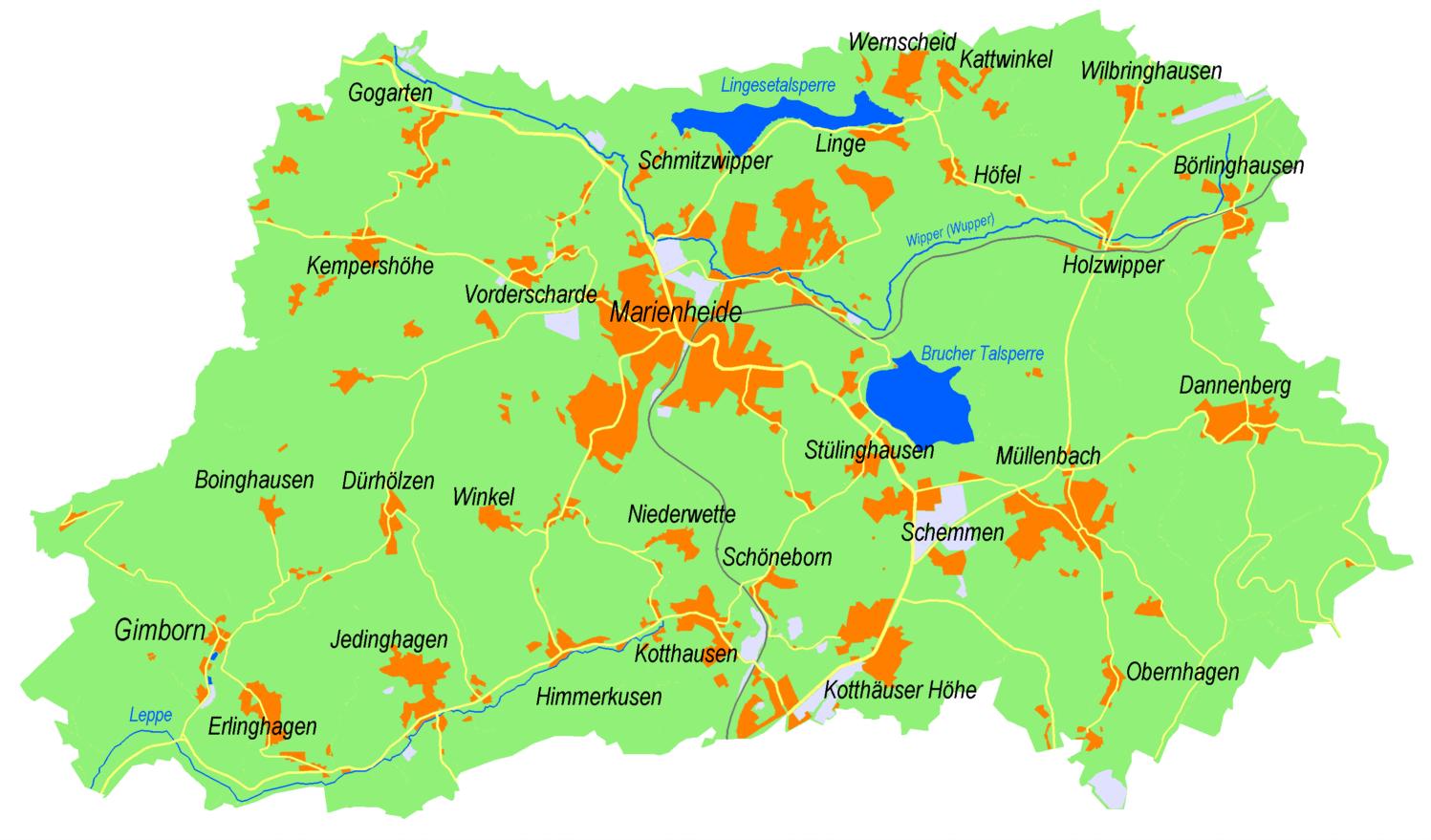 Hengasch Landkarte