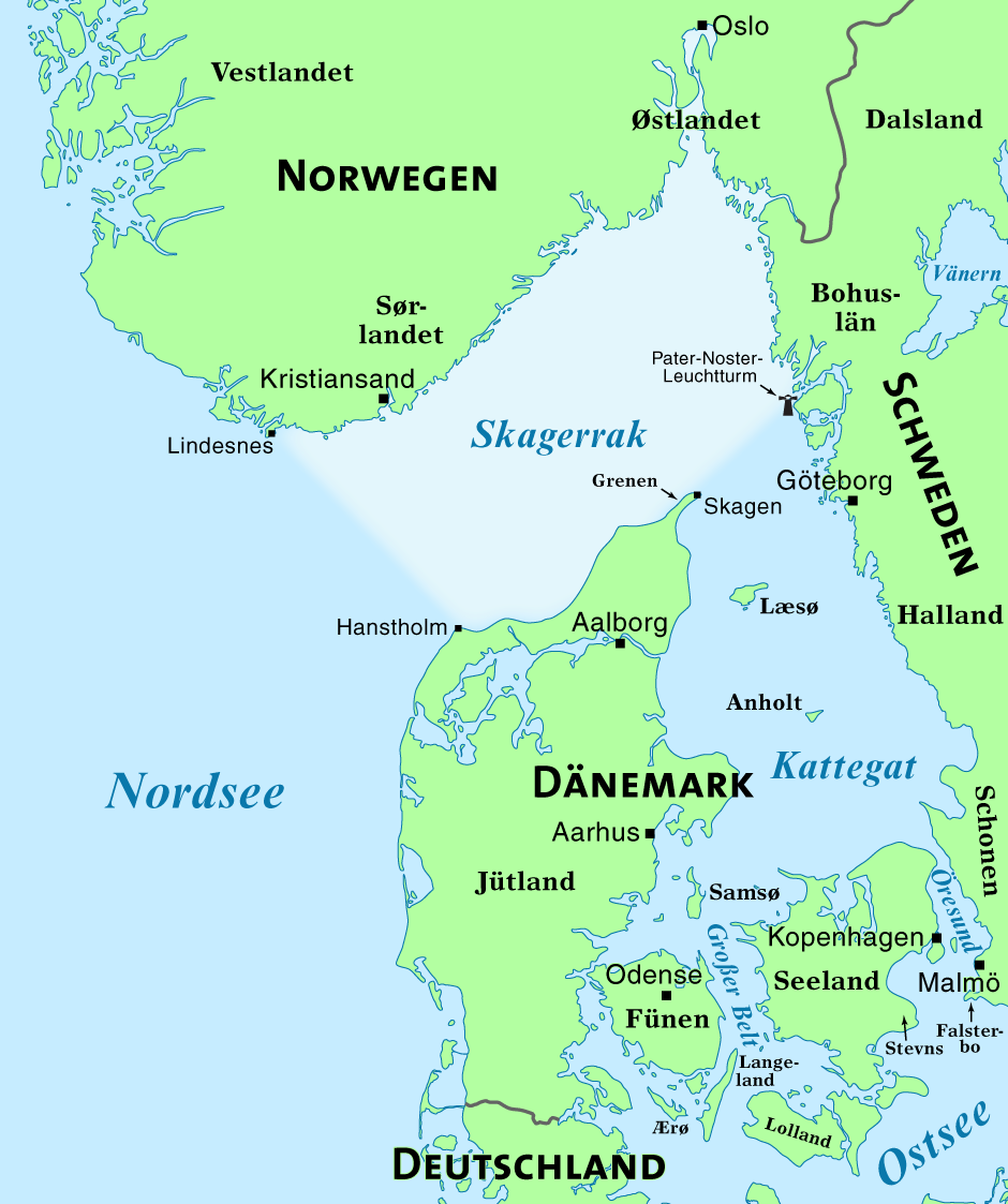 Karte Norwegen Dänemark.Skagerrak Wikipedia