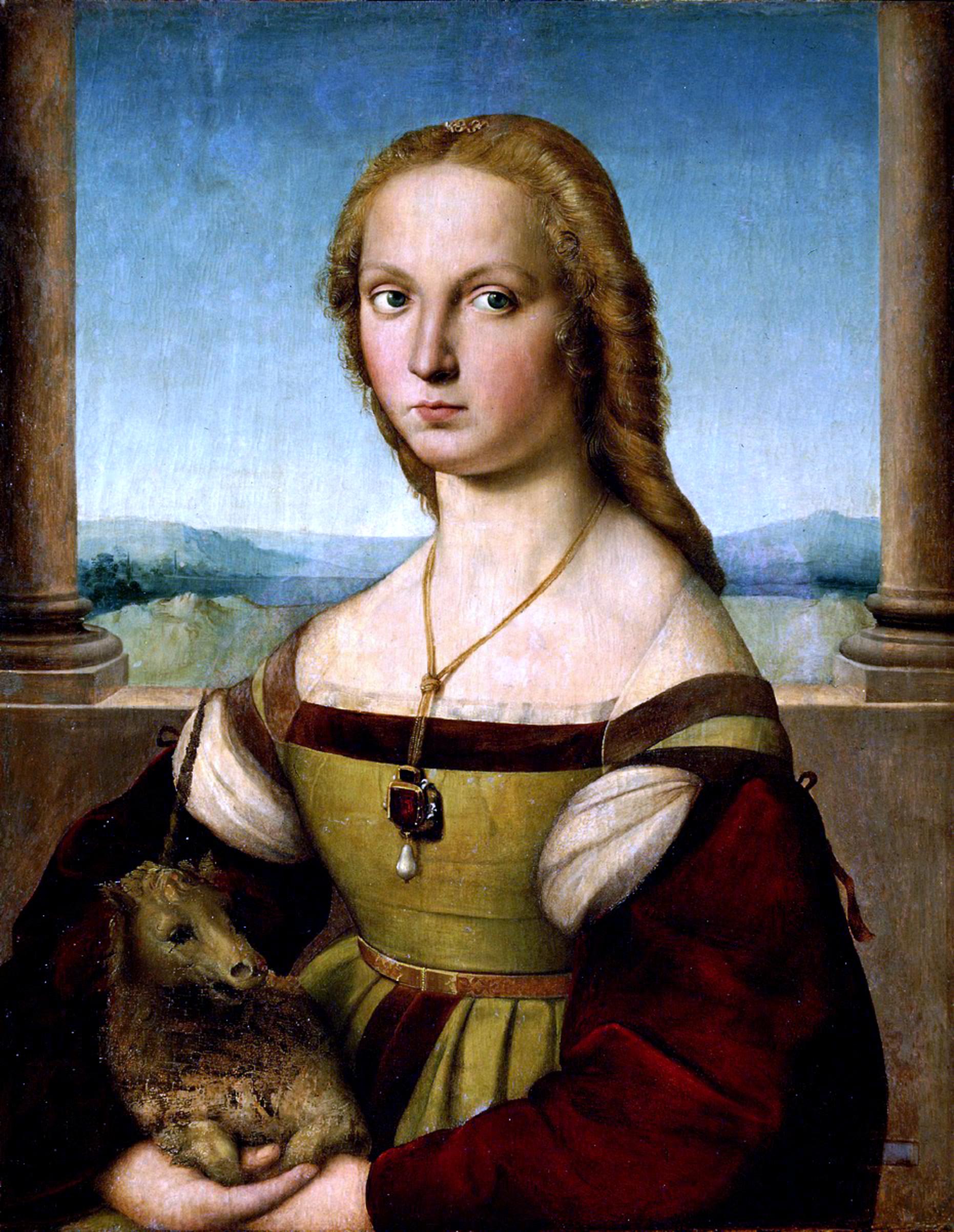 http://upload.wikimedia.org/wikipedia/commons/8/87/Lady_with_unicorn_by_Rafael_Santi.jpg