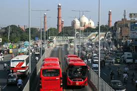 Lahore Bus Service at Central Station, Lahore.jpg