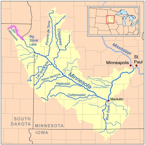 Little Minnesota River - Wikipedia on large minnesota map lakes rivers, minnesota lakes and rivers, just minnesota map with rivers, map of all lakes mn,
