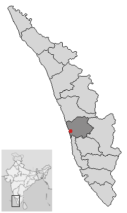 Localisation de District d'Ernakulam
