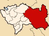 Расположение провинции Сатипо в регионе Хунин