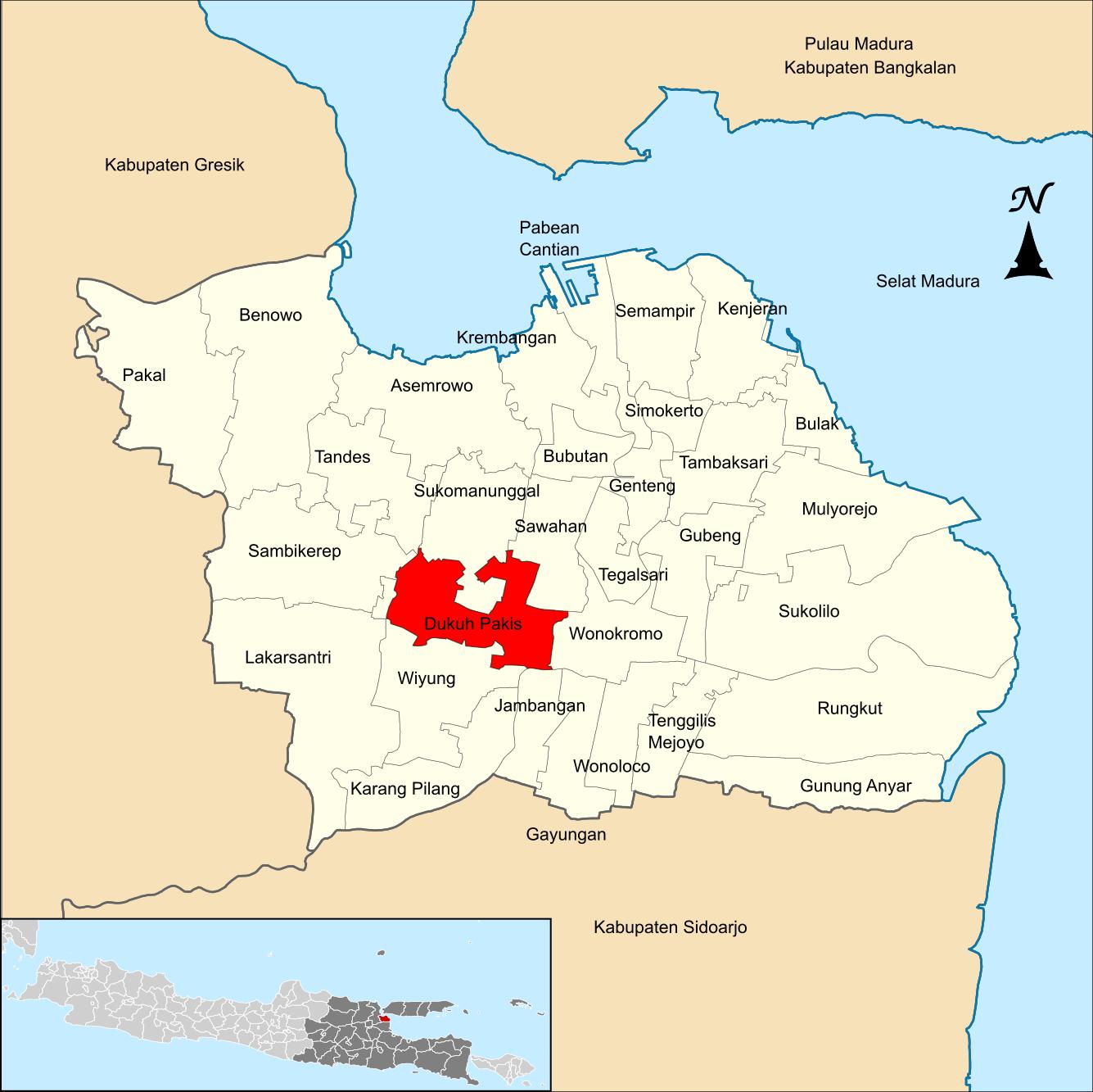 Dukuh Pakis, Surabaya - Wikipedia bahasa Indonesia ...
