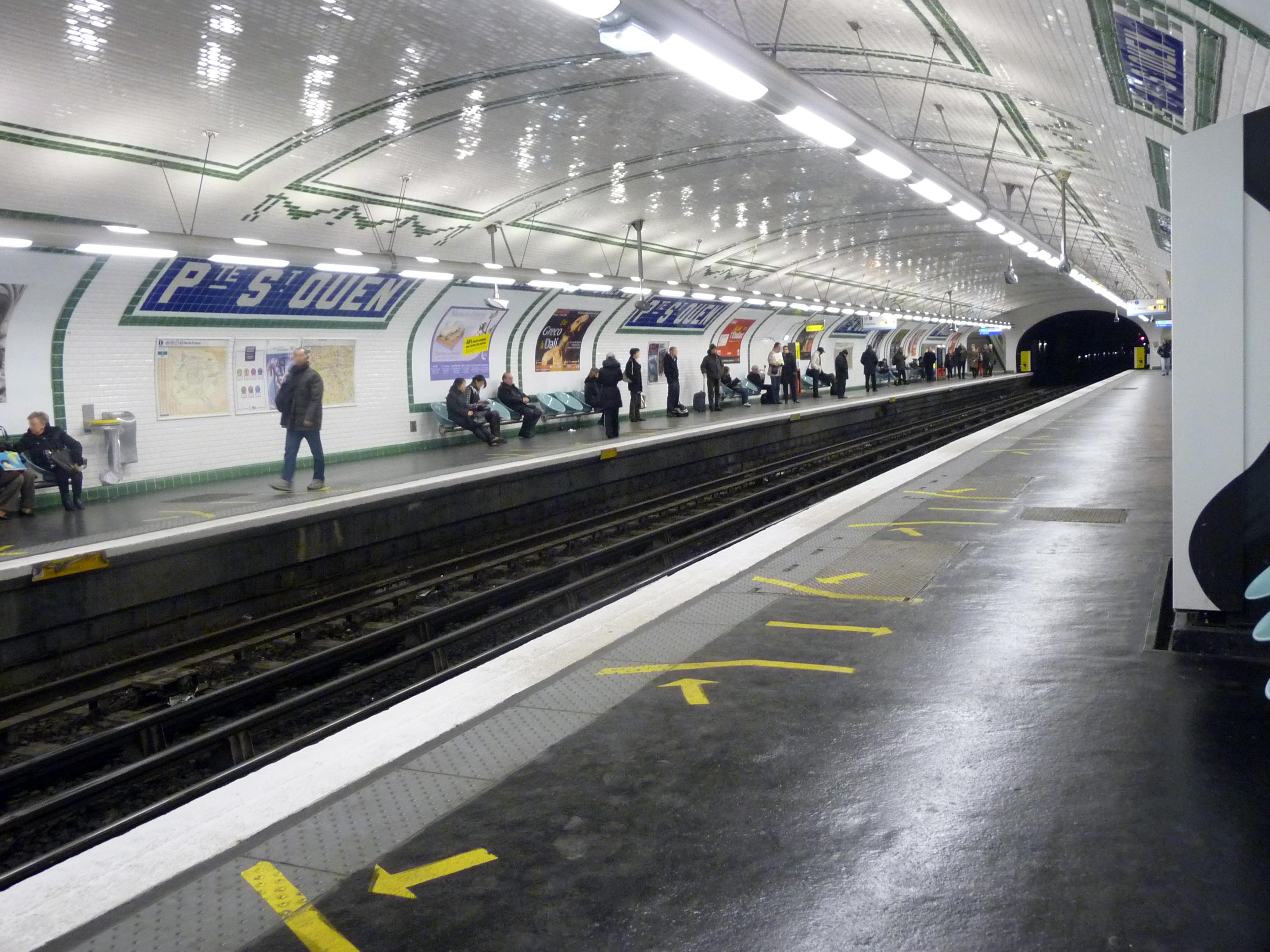 Métro Porte Saint-Ouen ligne 13