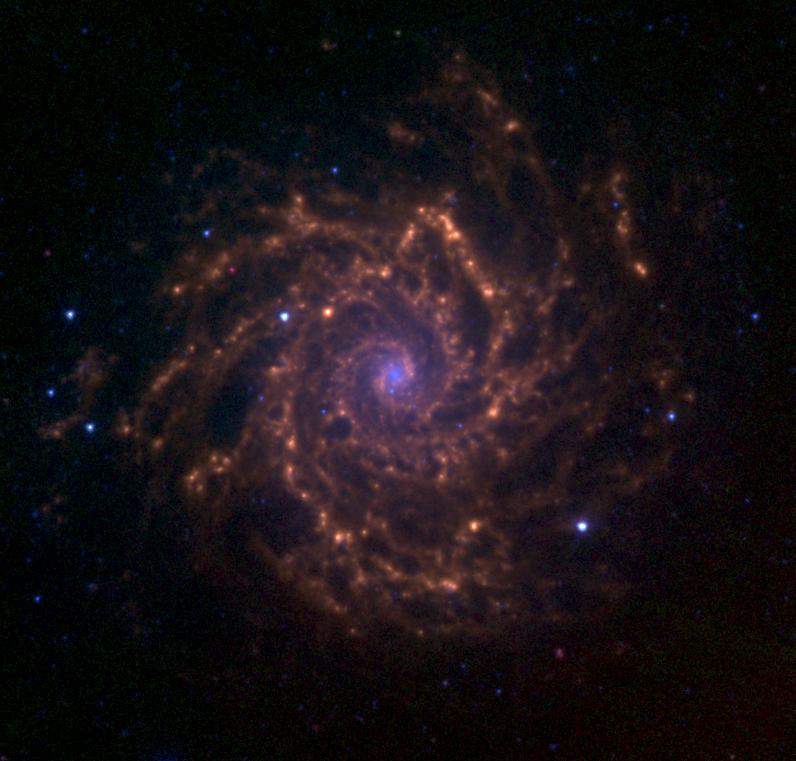 Observations à Biesmerée M74_3.6_5.8_8.0_microns_spitzer