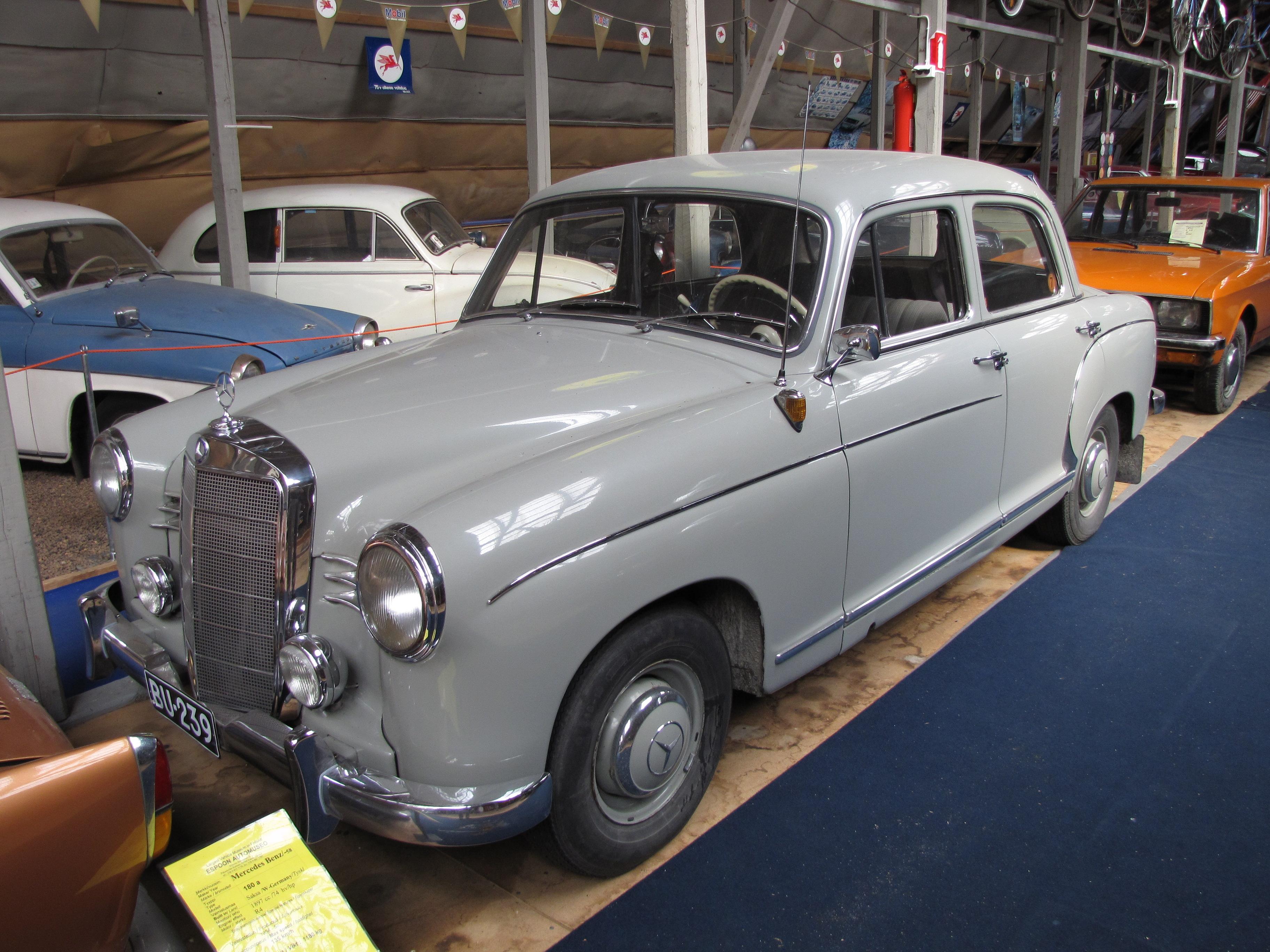 Mercedes Benz History Of Models >> File:Mercedes-Benz 180a model 1958 front.JPG - Wikimedia ...