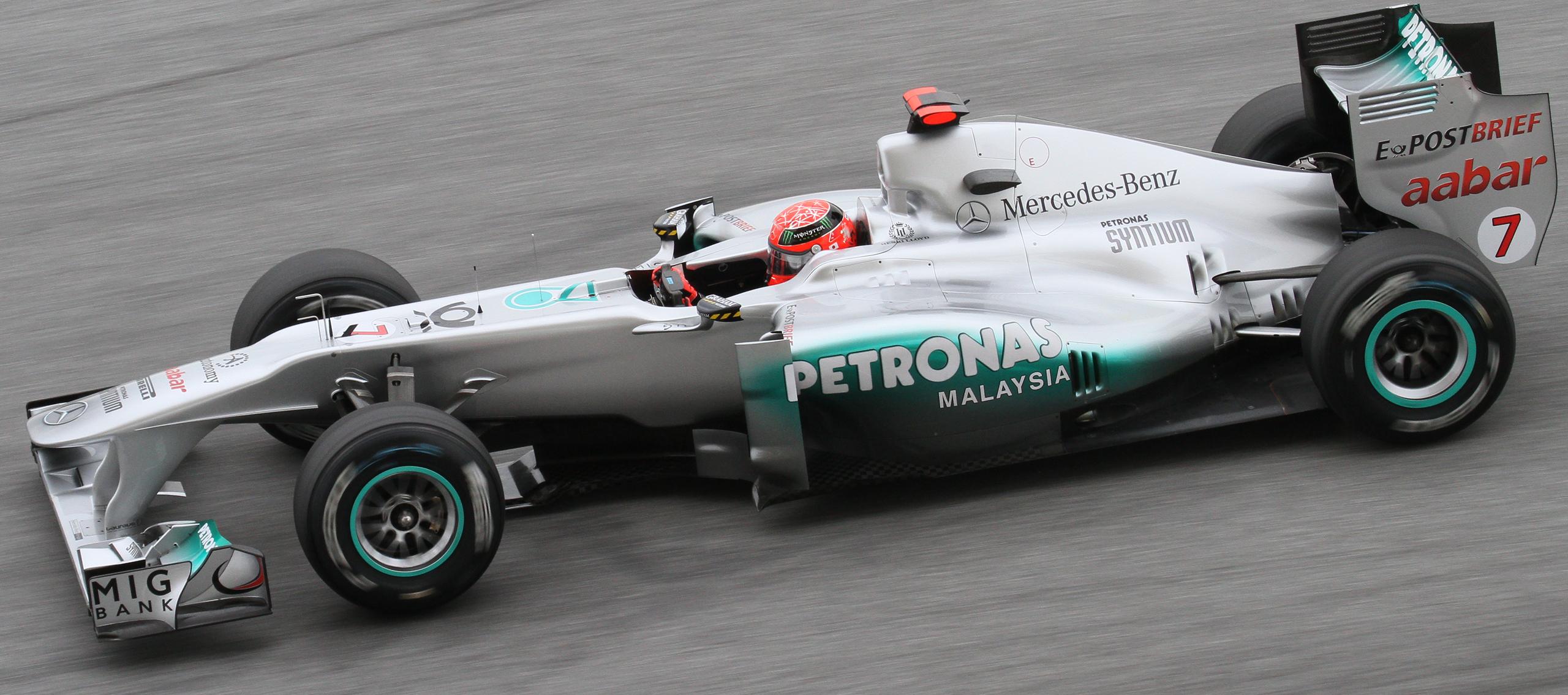 Michael Schumacher su Mercedes W02