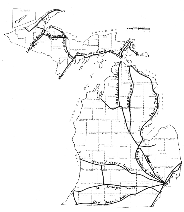 Native Indian Michiganders Paved The Way For I St Joe Trail - Us 12 michigan map