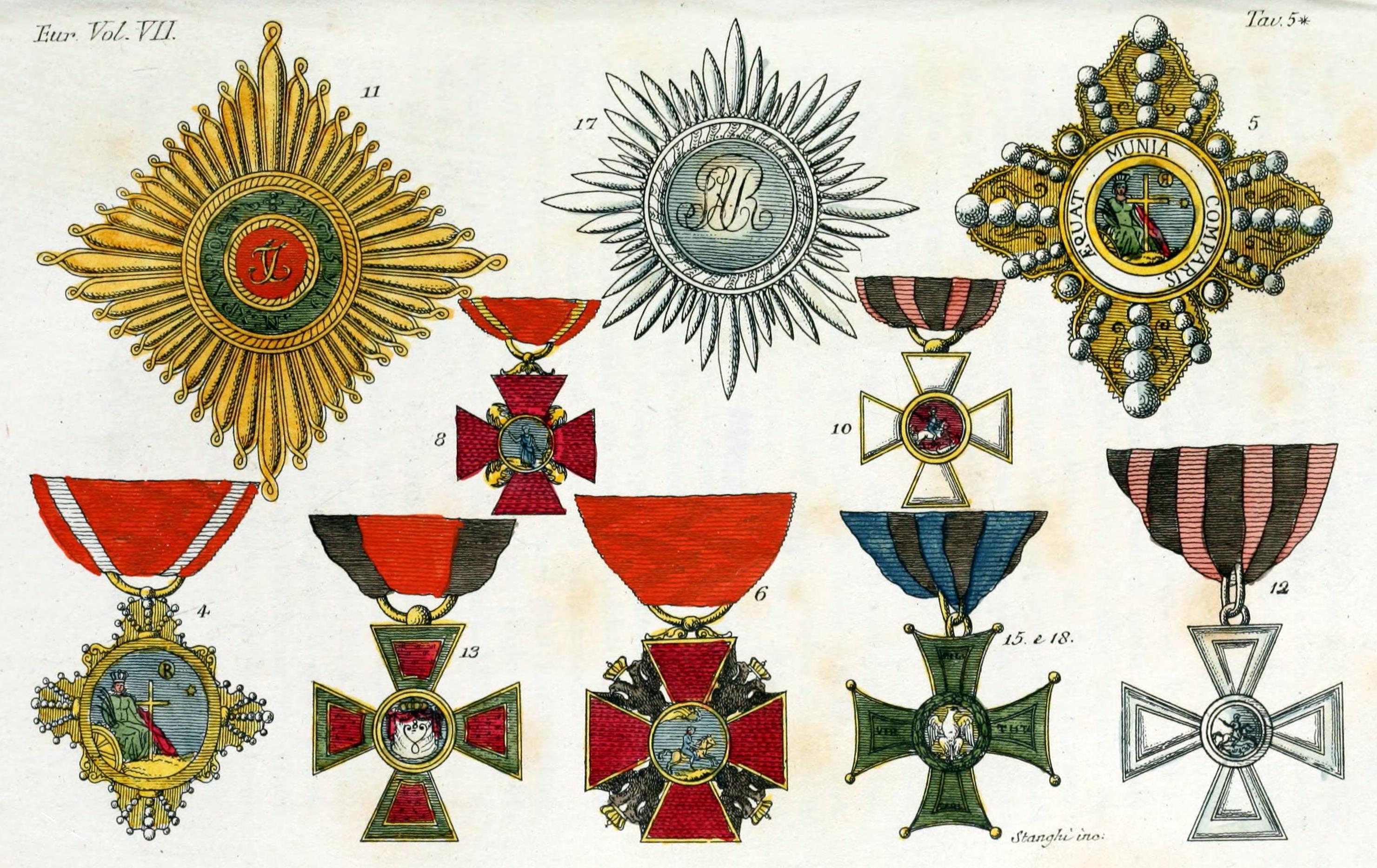 File Military Orders Of Russia Illustration For Il Costume Antico E
